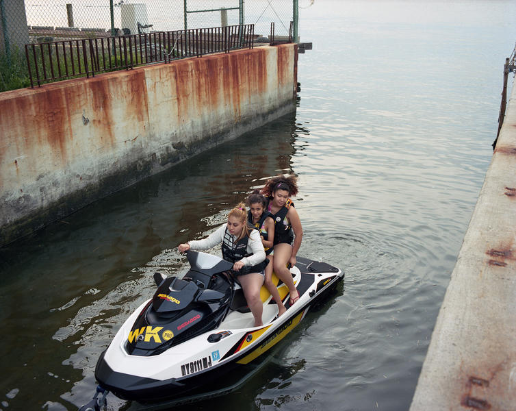 Three Girls on a Jet Ski, Jamaica Bay, Queens 2014