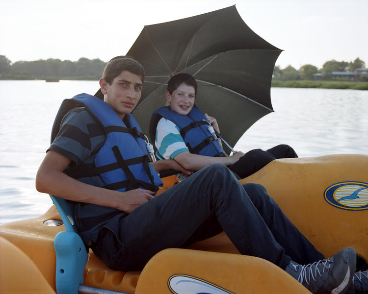 Two Boys in a Pedal Boat, Marine Pk, Brooklyn 2014