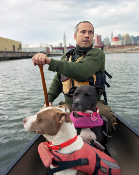 Jens, Millie, and Gertie, Newtown Creek, 2013