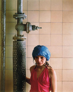 Girl with blue bathing Cap, 1984