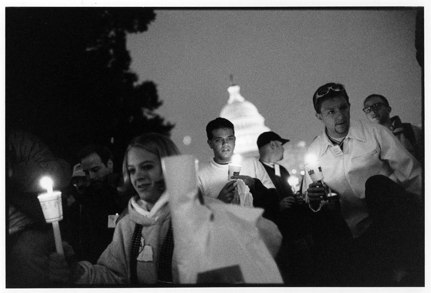 Candlelight vigil, WDC, 1996