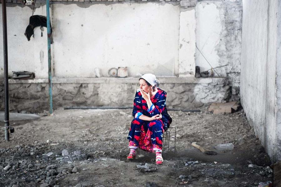 Woman in a Market Stall, Khujand, Tajikistan, 2009