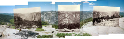 Mark Klett and Byron Wolfe, Panorama from Sentinel Dome, 2003