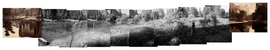 Mark Klett and Byron Wolfe, Panorama of a Ghost River, 2001