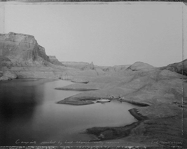 Campsite Reached by Boat Through Watery Canyons, Lake Powell