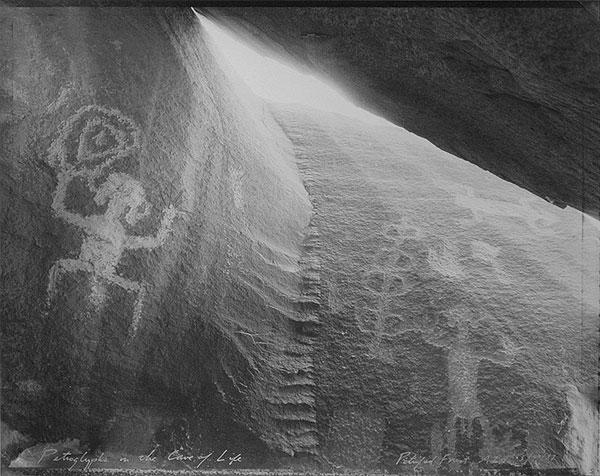 Petroglyphs in the Cave of Life, Petrified Forest, AZ