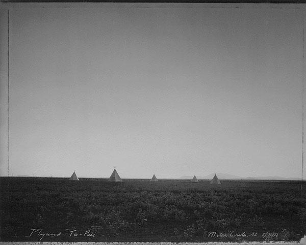Plywood Tee-Pees, Meteor Crater, AZ