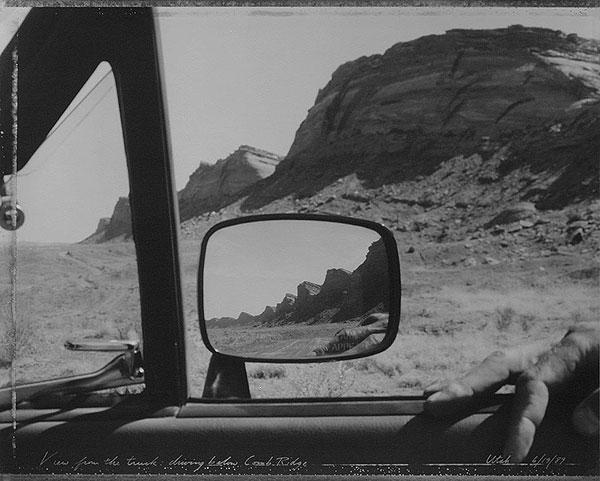 View From the Truck Driving Below Comb Ridge Utah, 1989