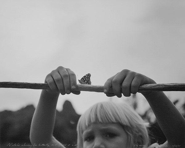 Natalie Showing Her Butterfly, and Afraid it Will Fly Away, Eagletails