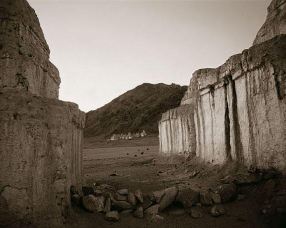 Between the Chortens, Shea, Ladakh, India, 2003