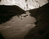 River With Mountains, Ladakh, India, 1998