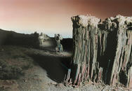 Tufa, Mono lake, CA, Hand Painted, 1977