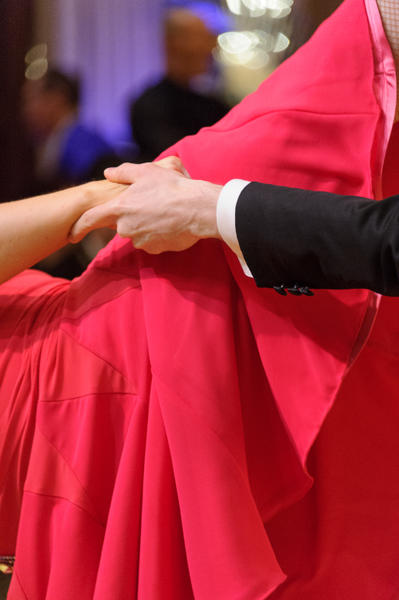 Wisconsin State Dancesport, hands with red dress 2