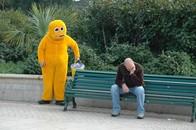 Zippy man, Bournemouth, UK