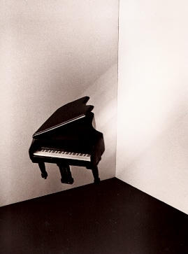 Flying Piano, silver gelatin photograph, 1980