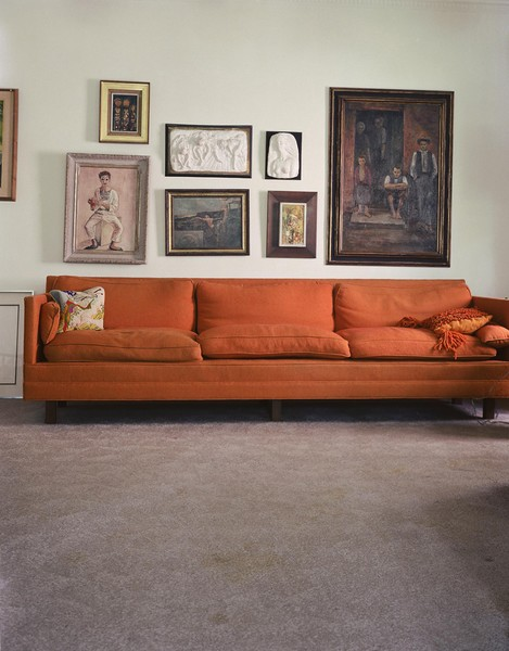 (Orange couch)