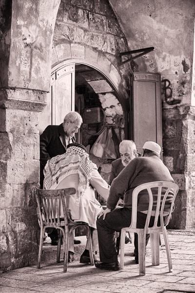 Backgammon Players, Jerusalem, 2009
