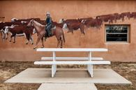 Rancher Mural and Park Bench, Mosquero, New Mexico