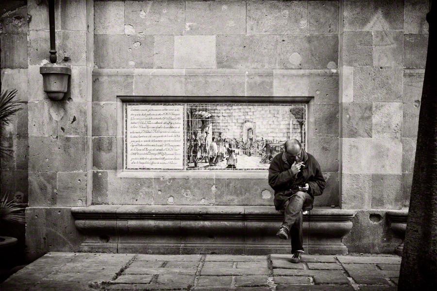 Man Sitting on Bench, December 29, 2011