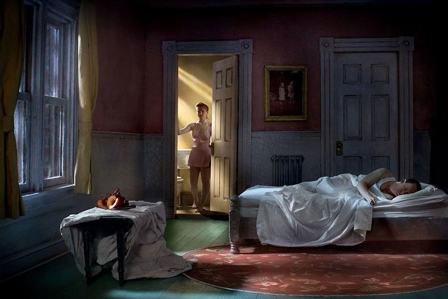 Pink Bedroom (Still Life At Night)