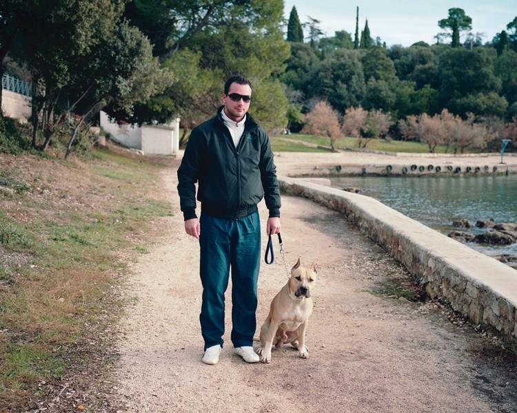 Man with his Dog. Rovinj, January 2012