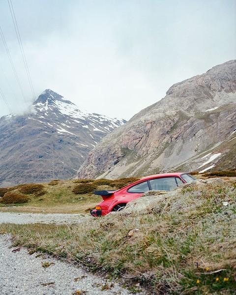 Hidden Porsche. Switzerland, June 2014