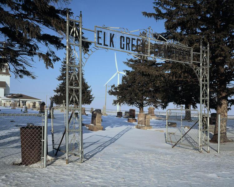 Elk Creek Cemetery, Barton Wind Farm,Worth County