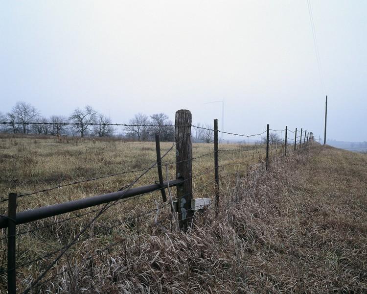 Fence Line, Lost Creek Wind Farm, De Kalb County