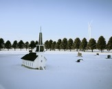 Miniature Church, Elk Creek Cemetery