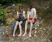 Paige and Josh at Walden Pond, Concord, MA