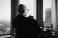 Man at Windows on the World, WTC, 1978