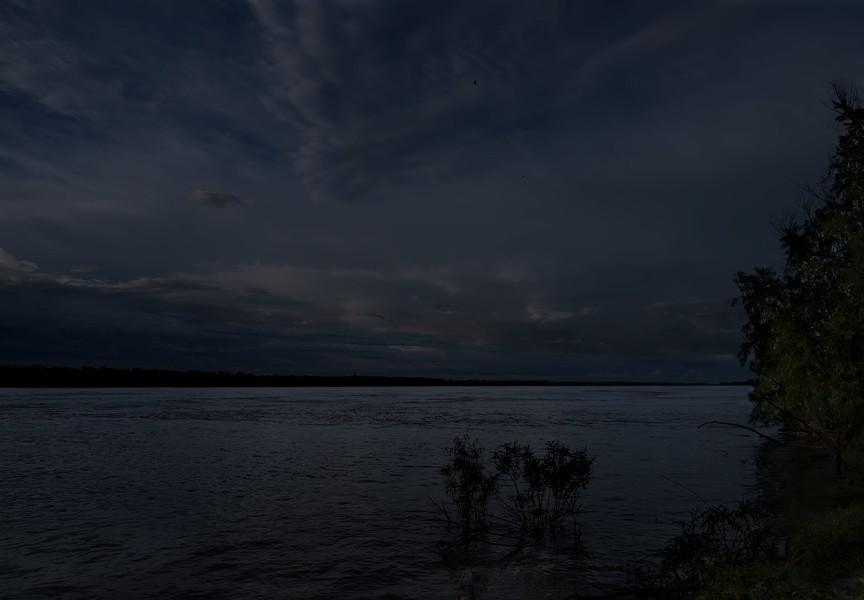 Moonlight over the Mississippi; Tensas Parish, LA