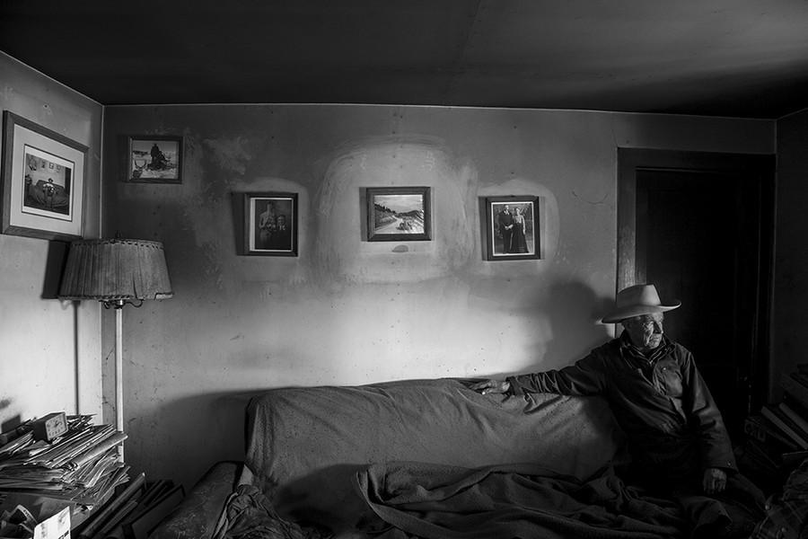 John Hoiland in his Livingroom