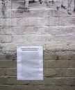 Untitled [wallpaper-glued editorial on Arcata buil