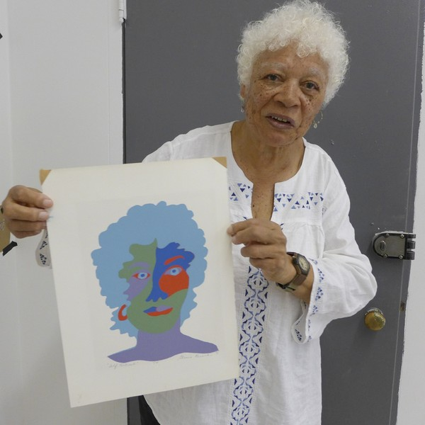 Gloria with her Self-Portrait