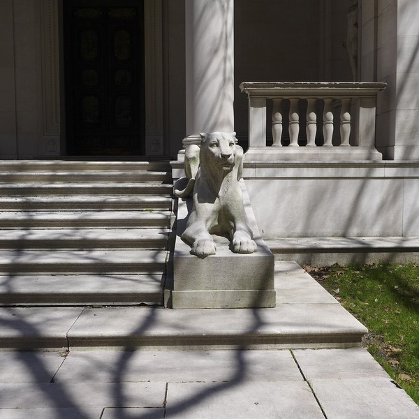 Morgan Library Lion