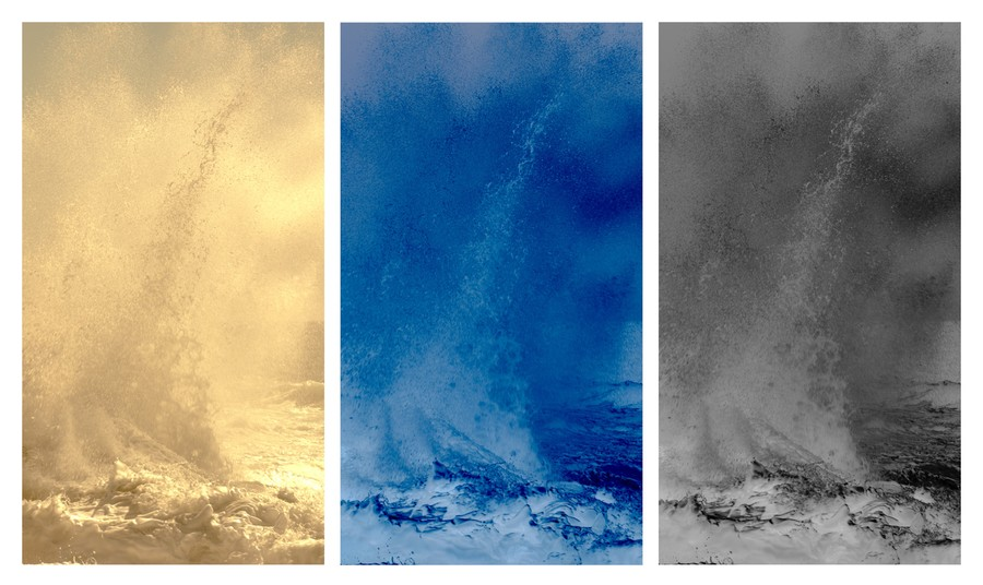 Waves II - Triptych, 2014