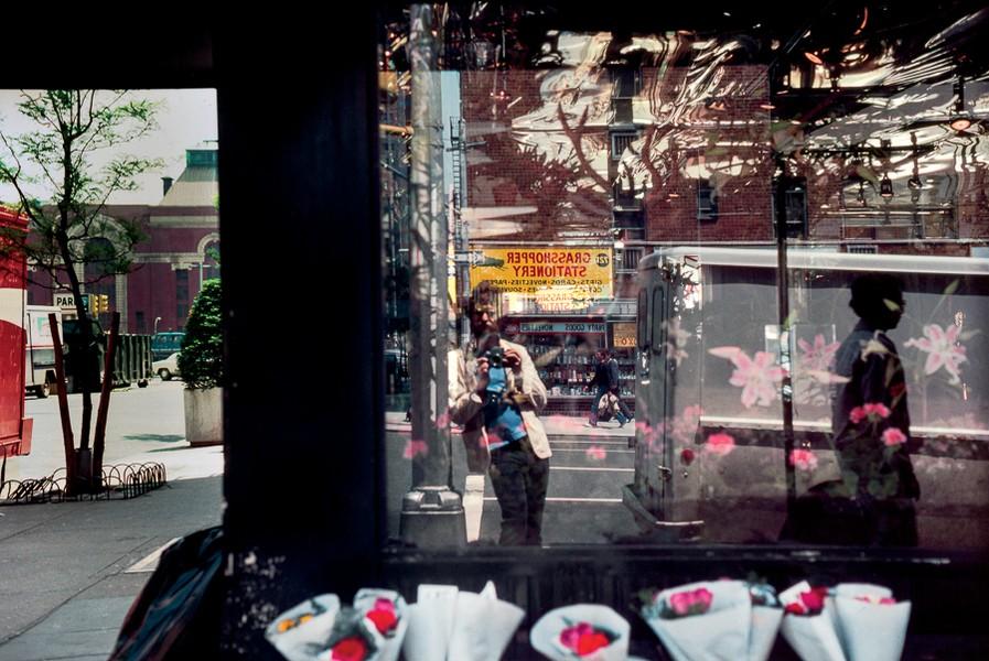 Self-Portrait in a Flower Shop Window