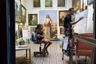 Girl and Paintings / Havana