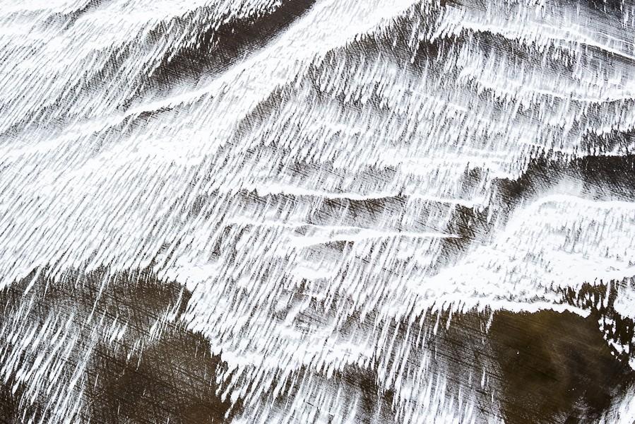 Snow Dribbles, High Plains, CO, 2014