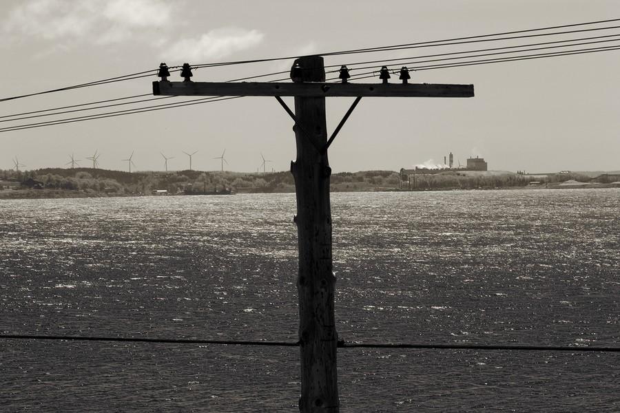 Coal Fired Plant and Wind Farm, Nova Scotia