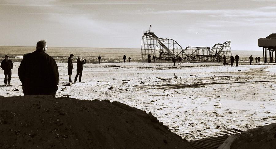 After Sandy, Roller Coaster at Seaside Heights, NJ