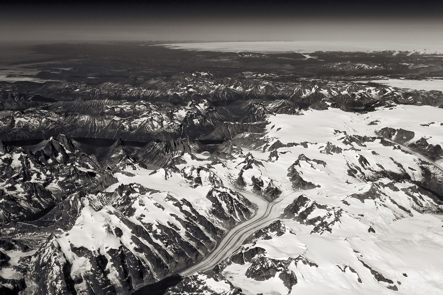 Glacier on West Side of Greenland