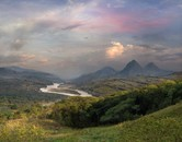 Panoramic view of the Cauca River Valley
