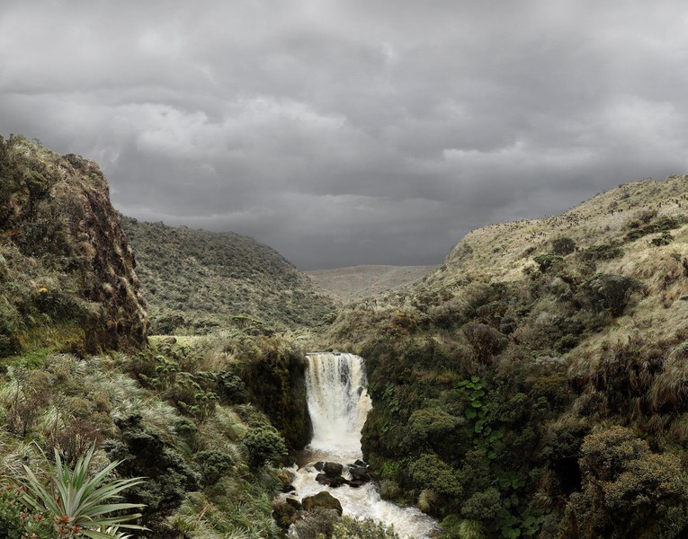 Bedón River Waterfall at the Páramo