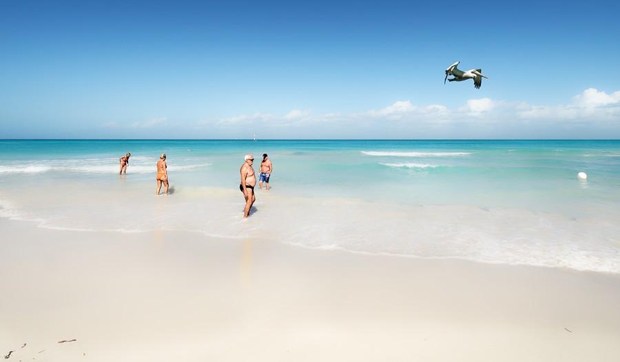 Bathers, Varadero Beach, Cuba