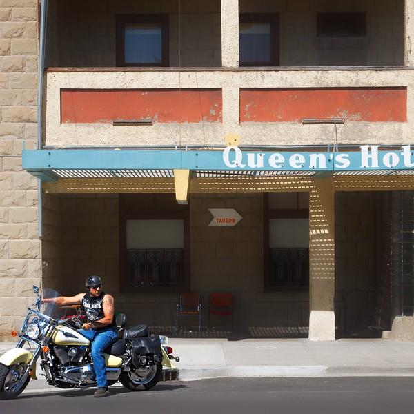 Motorcyclist, Fort MacLeod, Alberta