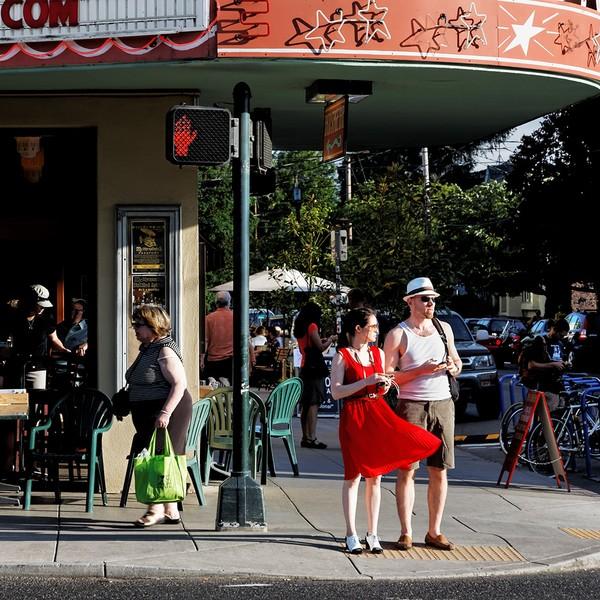 Woman in Red Dress, Portland, Oregon