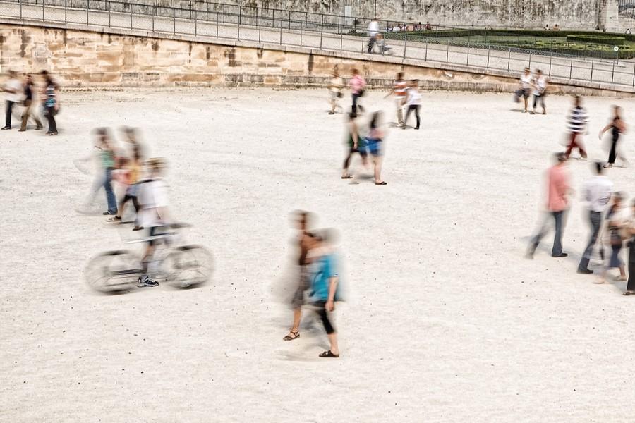 Cyclist, Paris, France