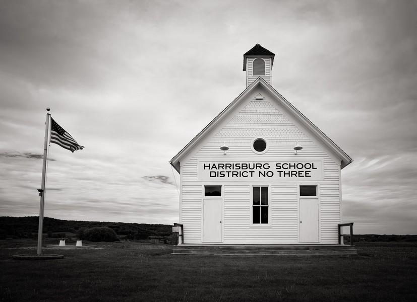 Harrisburg School, Troy Township, Wisconsin